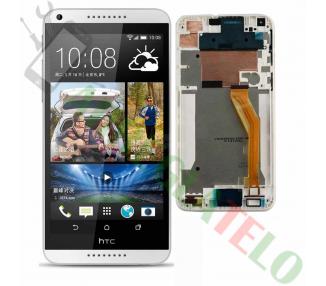 Pełny ekran z ramką do telefonu HTC Desire 816 816D 816T Biały Biały