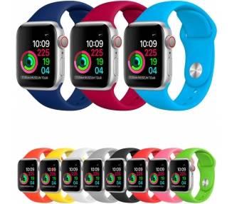 Correa para Reloj Apple, Series 1 2 3 4 5 pulsera silicona iWatch 38-40 ARREGLATELO - 1