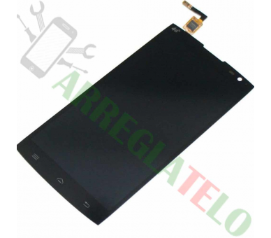 Volledig scherm voor Alcatel One Touch M812F Oranje Nura Zwart Zwart FIX IT - 2