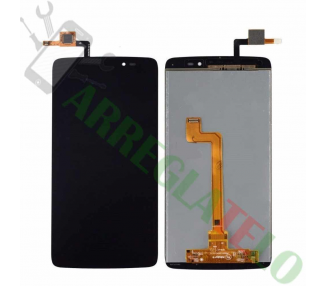 Display For Alcatel One Touch Idol 3, Color Black