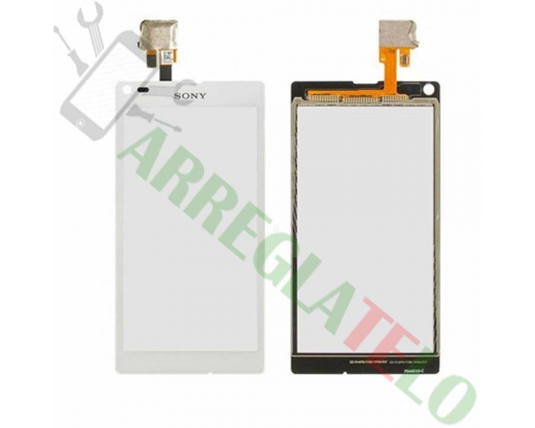 Touchscreen Digitizer voor Sony Xperia L S36H C2104 C2105 Wit Wit Sony - 1