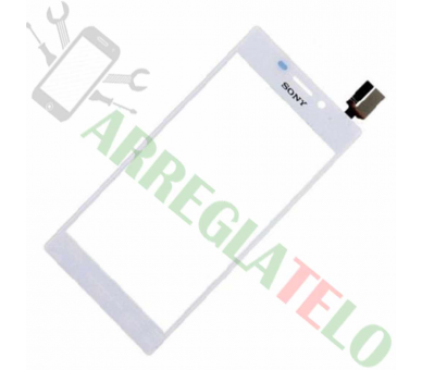 Touch Digitizer Vetro per Sony Xperia M2 S50H D2303 Bianco Sony - 1