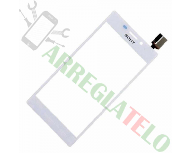 Touchscreen Digitizer voor Sony Xperia M2 S50H D2303 Wit Wit Sony - 1
