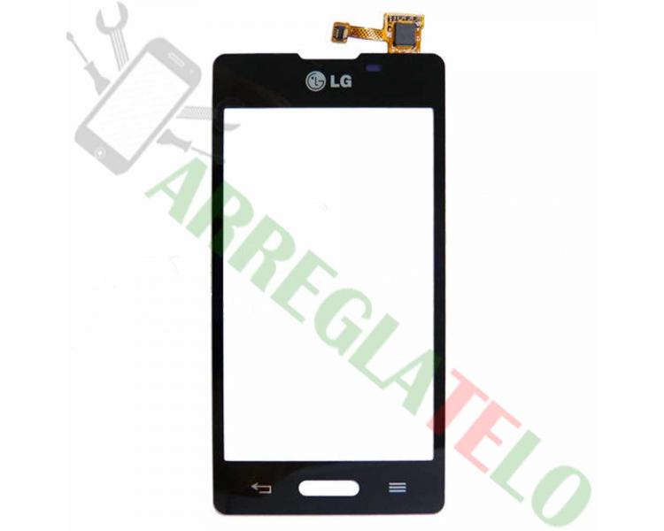 Touchscreen Digitizer voor LG Optimus L5 2 II E460 Zwart Zwart LG - 1
