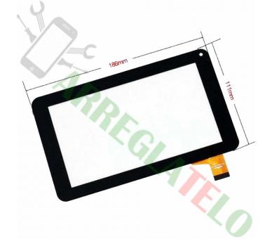 """Pantalla Tactil Digitalizador para PRIXTON T7005 SALTY 7"""" Negro Negra Prixton - 1"""