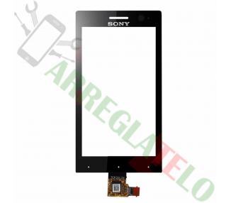 Digitalizzatore touch screen per Sony Xperia U ST25 ST25i Nero Nero