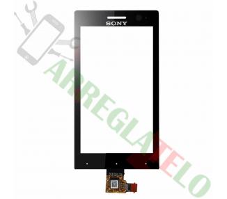 Digitalizzatore touch screen per Sony Xperia U ST25 ST25i Nero Nero