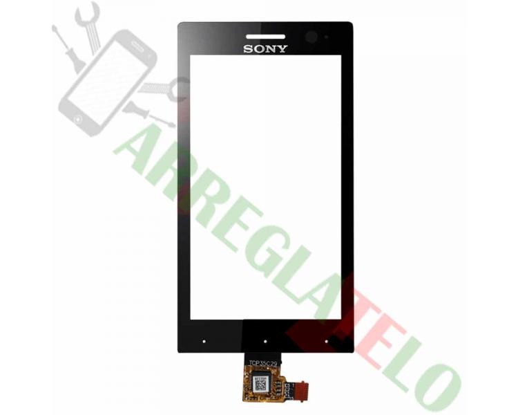 Touchscreen Digitizer voor Sony Xperia U ST25 ST25i Zwart Zwart Sony - 1