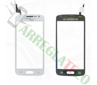 Touch Digitizer Vetro per Samsung Galaxy Core 4G G386 Avant Bianco