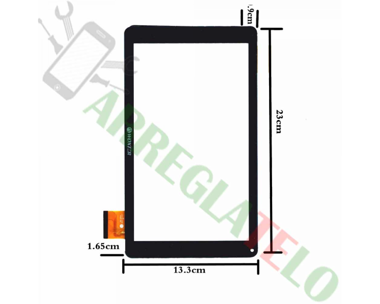 "Touch Screen Digitizer for Woxter Tab 10.1"" QX105 ZHC-0364A 