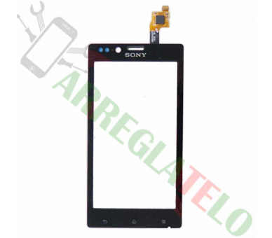 Touch Screen Digitizer for Sony Xperia J ST26 ST26i Black Sony - 1