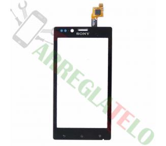 Pantalla Tactil Digitalizador para Sony Xperia J ST26 ST26i Negro Negra