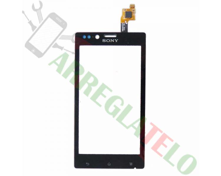 Touch Digitizer Vetro per Sony Xperia J ST26 ST26i Nero Sony - 1