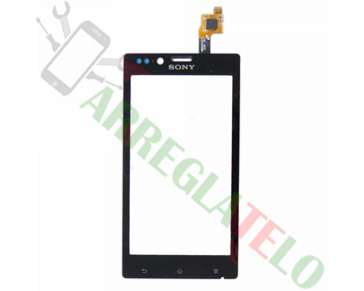 Touch Screen Digitizer voor Sony Xperia J ST26 ST26i Zwart Zwart Sony - 1