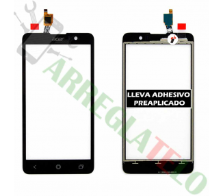 Digitizer z ekranem dotykowym do Acer Liquid Z520 Black Black