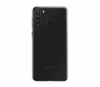 Funda Silicona Samsung Galaxy A21 Transparente Ultrafina