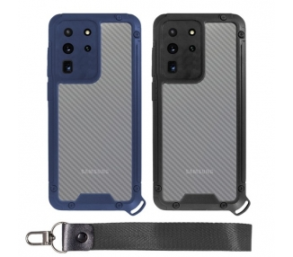 Funda Bumper Anti-Shock Samsung S20 ultra con Cordón corto - 2 Colores