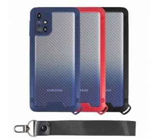 Funda Bumper Anti-Shock Samsung M31s con Cordón corto - 3 Colores