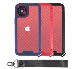 Funda Bumper Anti-Shock IPhone 12 Pro Max con Cordón corto - 3 Colores