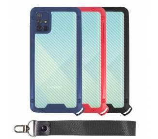 Funda Bumper Anti-Shock Samsung A51 con Cordón corto - 3 Colores