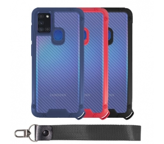 Funda Bumper Anti-Shock Samsung A21S con Cordón corto - 3 Colores