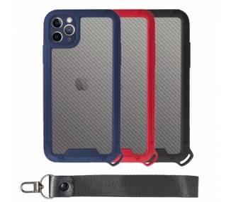 Funda Bumper Anti-Shock IPhone 11 Pro Max con Cordón corto - 3 Colores