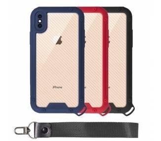 Funda Bumper Anti-Shock IPhone X / XS con Cordón corto - 3 Colores