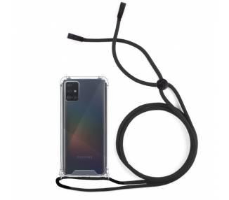 Funda Gel transparente con Cordón - Samsung Galaxy A71 ARREGLATELO - 1