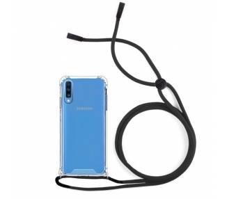 Funda Gel transparente con Cordón - Samsung Galaxy A70 ARREGLATELO - 1