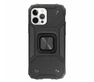 Funda Antigolpe Armor-Case iPhone 12 Pro Max con Imán y Soporte de Anilla 360º