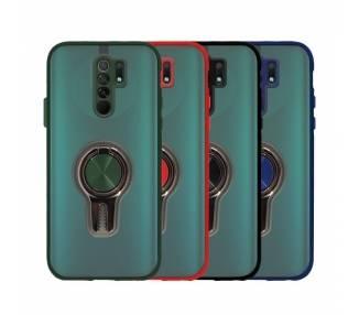 Funda Gel Xiaomi Redmi 9 con Anillo Magnético y Soporte para Coche ARREGLATELO - 1