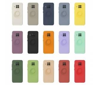 Funda Gel Silicona Suave Flexible para Xiaomi Mi 10T Lite con Imán y Soporte de Anilla 360º 7 Colores ARREGLATELO - 1