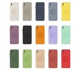Funda Gel Silicona Suave Flexible para Xiaomi Redmi 9A con Imán y Soporte de Anilla 360º 7 Colores ARREGLATELO - 1