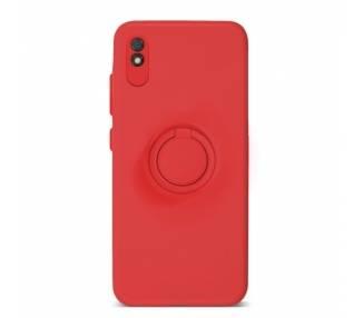 Funda Gel Silicona Suave Flexible para Xiaomi Redmi 9A con Imán y Soporte de Anilla 360º 7 Colores ARREGLATELO - 2