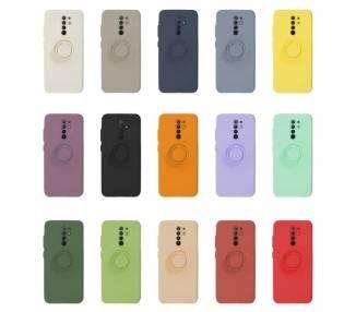 Funda Gel Silicona Suave Flexible para Xiaomi Redmi 9 con Imán y Soporte de Anilla 360º 7 Colores ARREGLATELO - 1