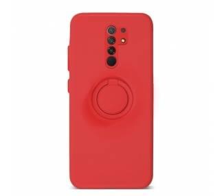 Funda Gel Silicona Suave Flexible para Xiaomi Redmi 9 con Imán y Soporte de Anilla 360º 7 Colores ARREGLATELO - 2