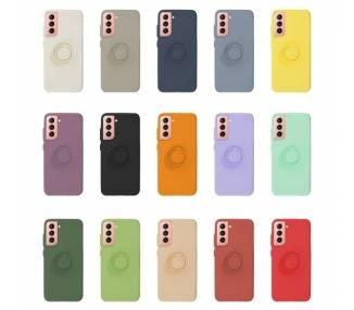 Funda Gel Silicona Suave Flexible para Samsung S21 Ultra con Imán y Soporte de Anilla 360º 7 Colores ARREGLATELO - 1