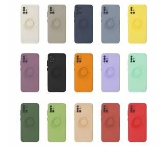 Funda Gel Silicona Suave Flexible para Samsung A71 con Imán y Soporte de Anilla 360º 7 Colores ARREGLATELO - 1