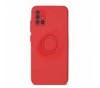 Funda Gel Silicona Suave Flexible para Samsung A71 con Imán y Soporte de Anilla 360º 7 Colores ARREGLATELO - 2