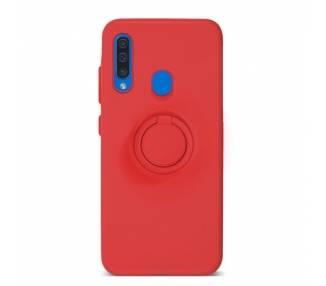 Funda Gel Silicona Suave Flexible para Samsung A50 con Imán y Soporte de Anilla 360º 7 Colores ARREGLATELO - 2