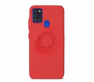 Funda Gel Silicona Suave Flexible para Samsung A21S con Imán y Soporte de Anilla 360º 7 Colores ARREGLATELO - 2