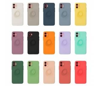 Funda Gel Silicona Suave Flexible para iPhone 12 Mini con Imán y Soporte de Anilla 360º 15 Colores ARREGLATELO - 1