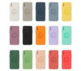 Funda Gel Silicona Suave Flexible para iPhone X/XS con Imán y Soporte de Anilla 360º 15 Colores ARREGLATELO - 1