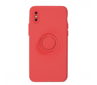 Funda Gel Silicona Suave Flexible para iPhone X/XS con Imán y Soporte de Anilla 360º 15 Colores ARREGLATELO - 2