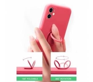 Funda Gel Silicona Suave Flexible para iPhone 7/8G con Imán y Soporte de Anilla 360º 15 Colores