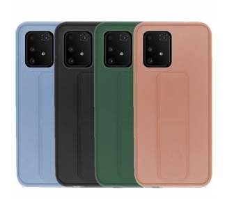 Funda Silicona Samsung Galaxy A91/s10 Lite Gel Premium con Soporte Magnético 4 Colores ARREGLATELO - 1