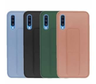 Funda Silicona Samsung Galaxy A70 Gel Premium con Soporte Magnético 4 Colores ARREGLATELO - 1