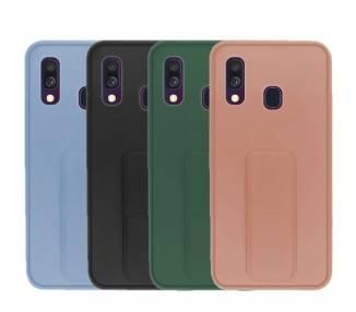Funda Silicona Samsung Galaxy A40 Gel Premium con Soporte Magnético 4 Colores ARREGLATELO - 1