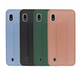 Funda Silicona Samsung Galaxy A10 Gel Premium con Soporte Magnético 4 Colores ARREGLATELO - 1