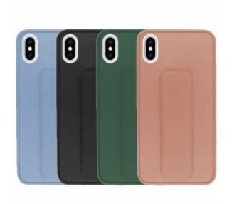 Funda Silicona iPhone XS Max Gel Premium con Soporte Magnético 4 Colores ARREGLATELO - 1